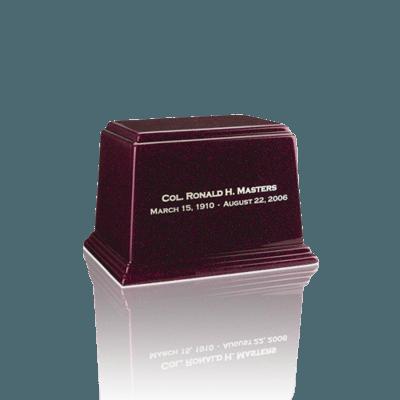 Ark Burgundy Keepsake Marble Urn