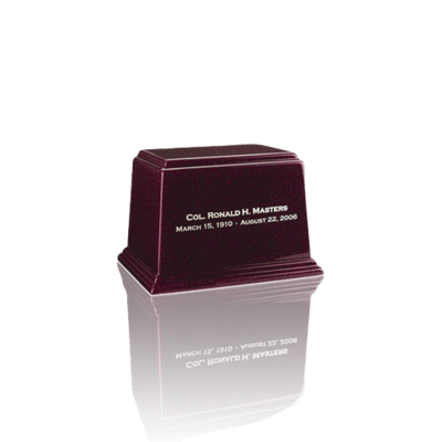 Ark Burgundy Mini Marble Urn