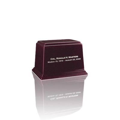 Ark Burgundy Mini Marble Urn