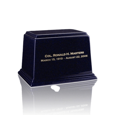 Ark Sapphire Blue Small Marble Urn