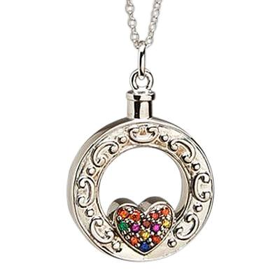 Art in My Heart Cremation Pendant