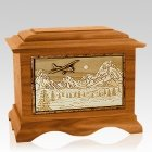 Aviation Mahogany Cremation Urn