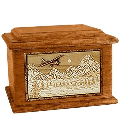 Aviation Mahogany Memory Chest Cremation Urn