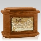 Aviation Mahogany Octagon Cremation Urn