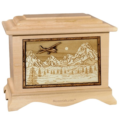 Aviation Maple Cremation Urn