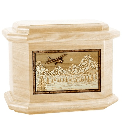 Aviation Maple Octagon Cremation Urn
