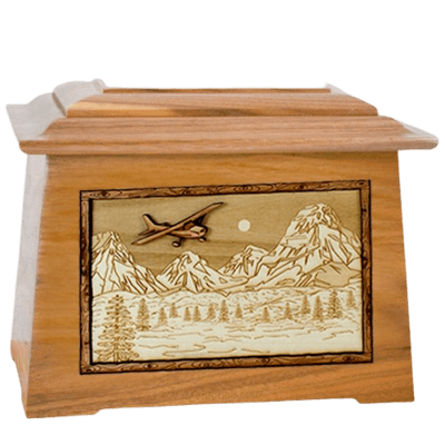 Aviation Oak Aristocrat Cremation Urn