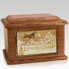 Aviation Walnut Memory Chest Cremation Urn