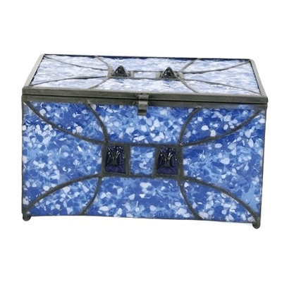 Azure Cathedral Glass Memory Chest