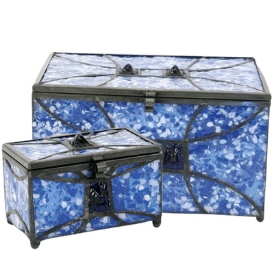Azure Cathedral Glass Memory Chests