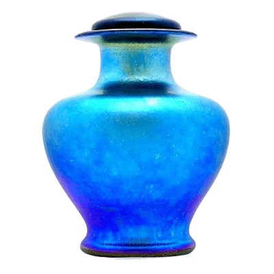 Azure Glass Cremation Urn