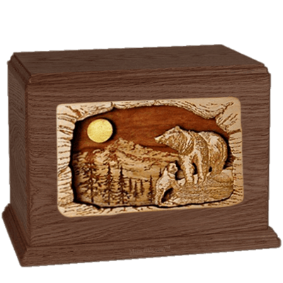 Bears Walnut Companion Urn
