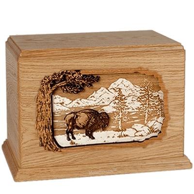 Bison Oak Companion Urn