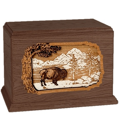 Bison Walnut Companion Urn