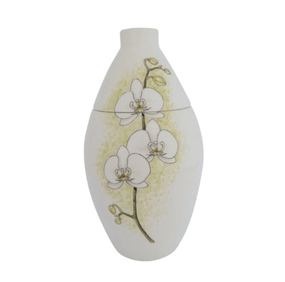 White Orchids Medium Cremation Urn