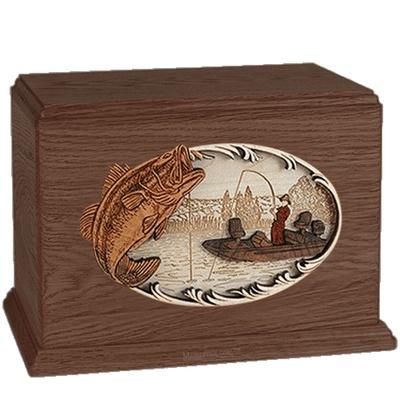 Boat Fishing Walnut Companion Urn