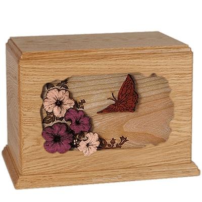 Butterfly Oak Companion Urn