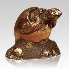 Baby Turtle Bronze Keepsake Urn