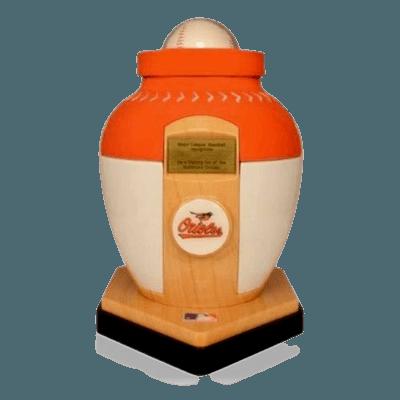Baltimore Orioles Baseball Cremation Urn