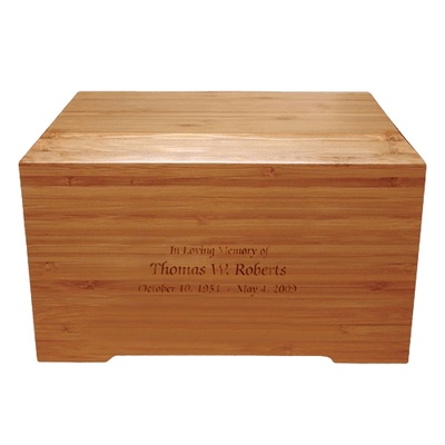 Bamboo Distinction Green Cremation Urn