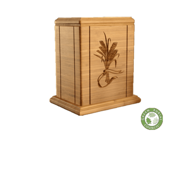Bamboo Wheat Cremation Urn