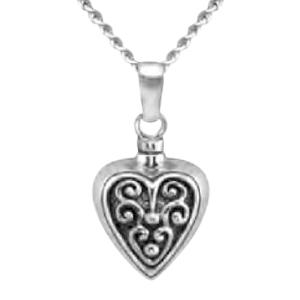 Baroque Heart Keepsake Pendant