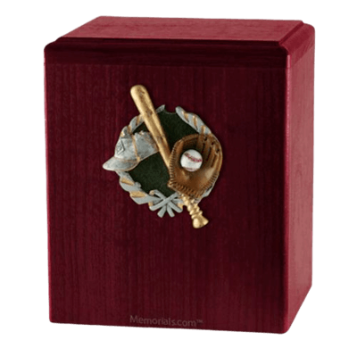Base Ball Rosewood Cremation Urn