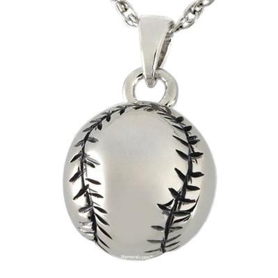 Baseball Cremation Pendant