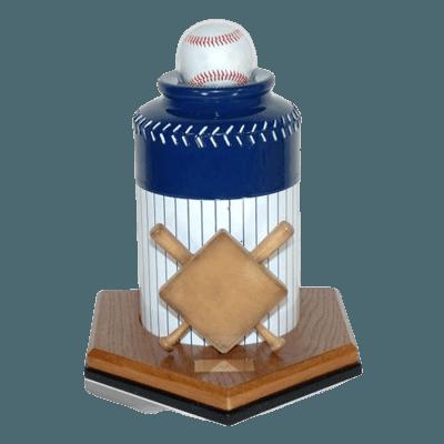 Baseball Pinstripe Cremation Urn