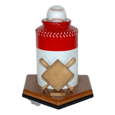 Baseball Red Cremation Urn