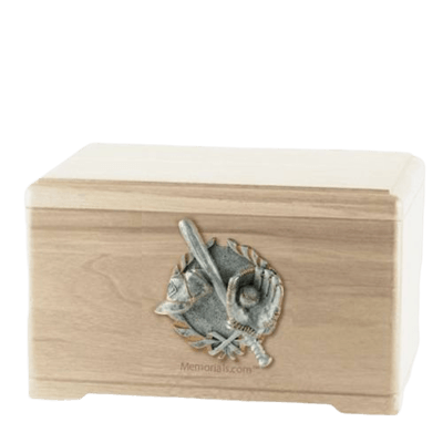 Baseball Tribute Maple Cremation Urn