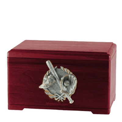 Baseball Tribute Rosewood Cremation Urn