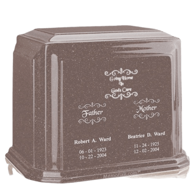 Basil Wood Marble Urn For Two