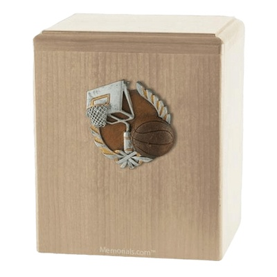 Basket Ball Maple Cremation Urn