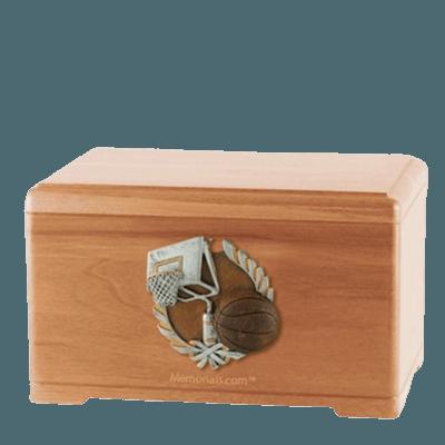 Basketball Fan Light Cherry Cremation Urn