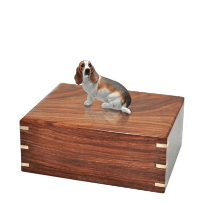Basset Hound Medium Doggy Urn