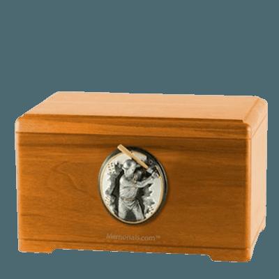 Batter Oak Cremation Urn