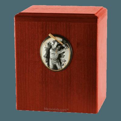 Batter Up Cherry Cremation Urn