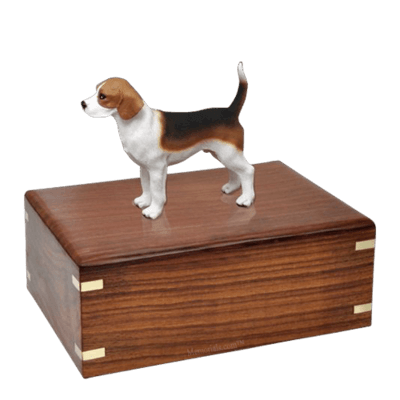 Beagle Standing Large Doggy Urn