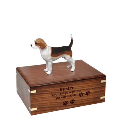 Beagle Standing Small Doggy Urn