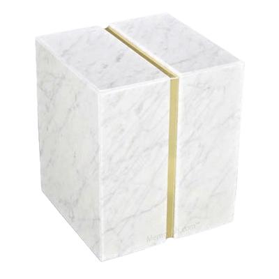 Bianco Carrera Marble Companion Urn