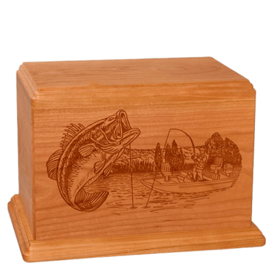 Big Bass Companion Mahogany Wood Urn