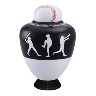 Big League Black Cremation Urn