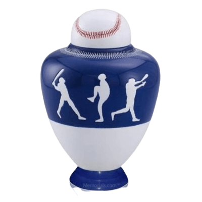 Big League Blue Cremation Urn