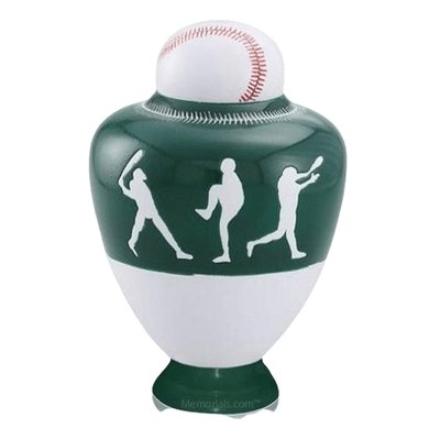 Big League Green Cremation Urn