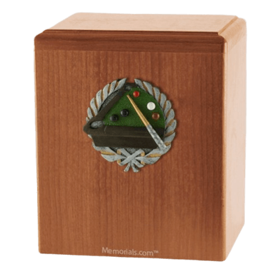 Billiard Light Cherry Cremation Urn