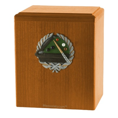 Billiard Oak Cremation Urn