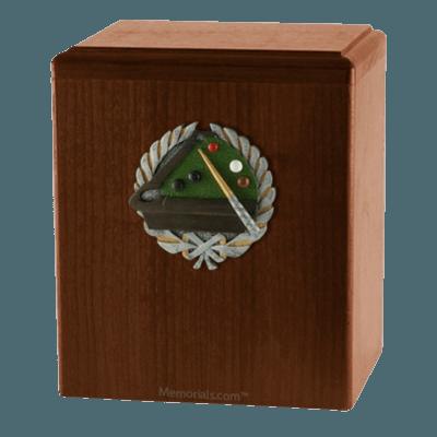 Billiard Walnut Cremation Urn