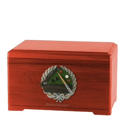 Billiards Cherry Cremation Urn