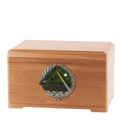 Billiards Light Cherry Cremation Urn